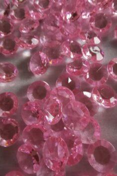 Dekoračné diamanty svetloružové 12mm - evkakvety-eshop.eu