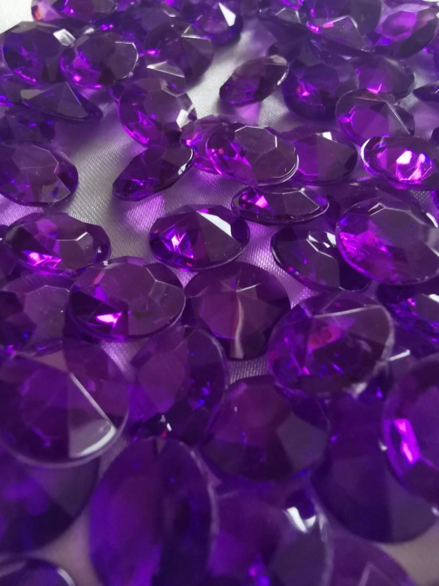 Dekoračné diamanty tmavofialové 12mm - evkakvety-eshop.eu