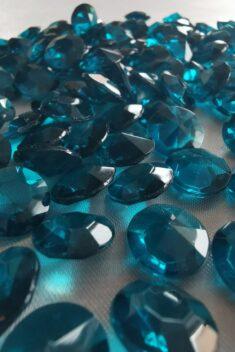 Dekoračné diamanty tyrkysové 12mm - evkakvety-eshop.eu