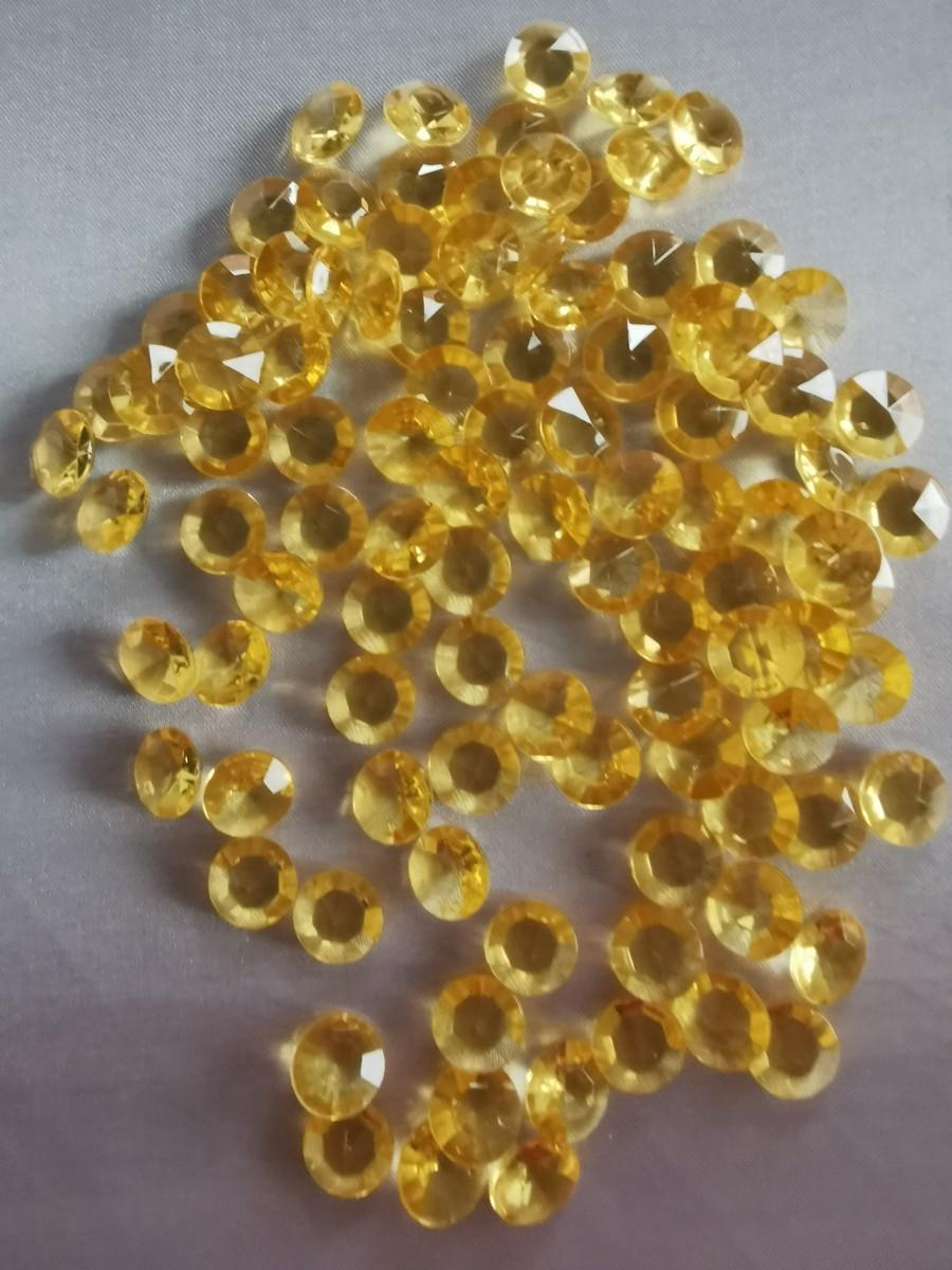 Dekoračné diamanty zlaté 12mm - evkakvety-eshop.eu