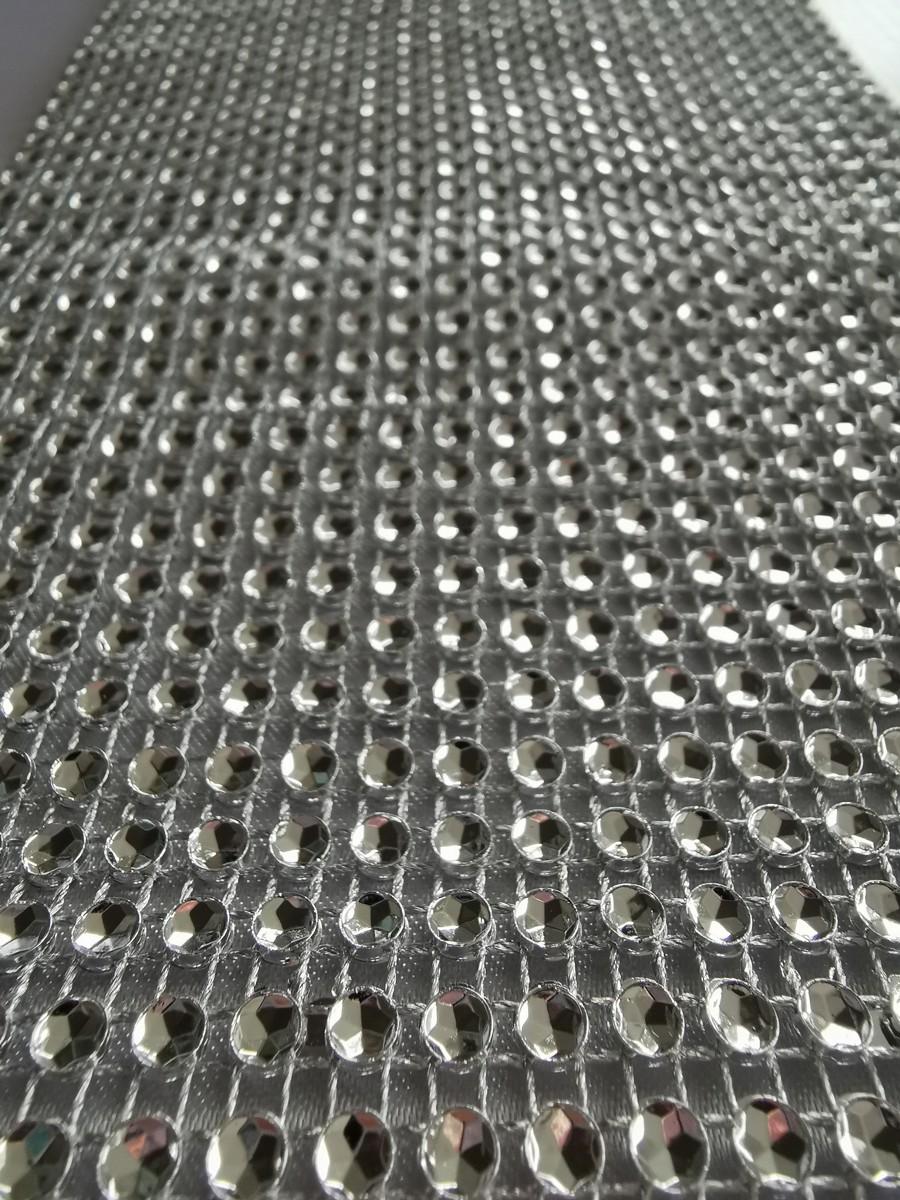 Diamantový pás, 12cm – strieborný – evkakvety-eshop.eu