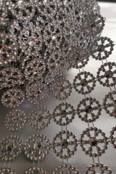 Diamantový pás koleso, 11cm - strieborný - evkakvety-eshop.eu
