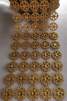 Diamantový pás koleso, 11cm - zlatý - evkakvety-eshop.eu