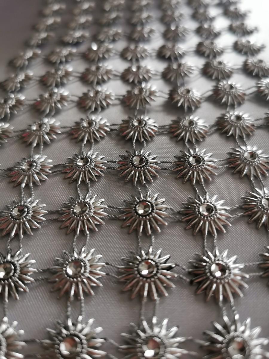 Diamantový pás slniečko, 11cm - strieborný - evkakvety-eshop.eu