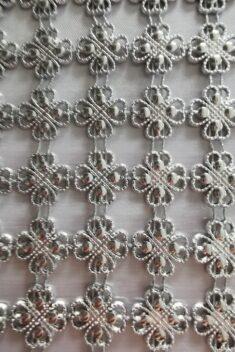 Diamantový pás štvorlístok, 11cm - strieborný - evkakvety-eshop.eu