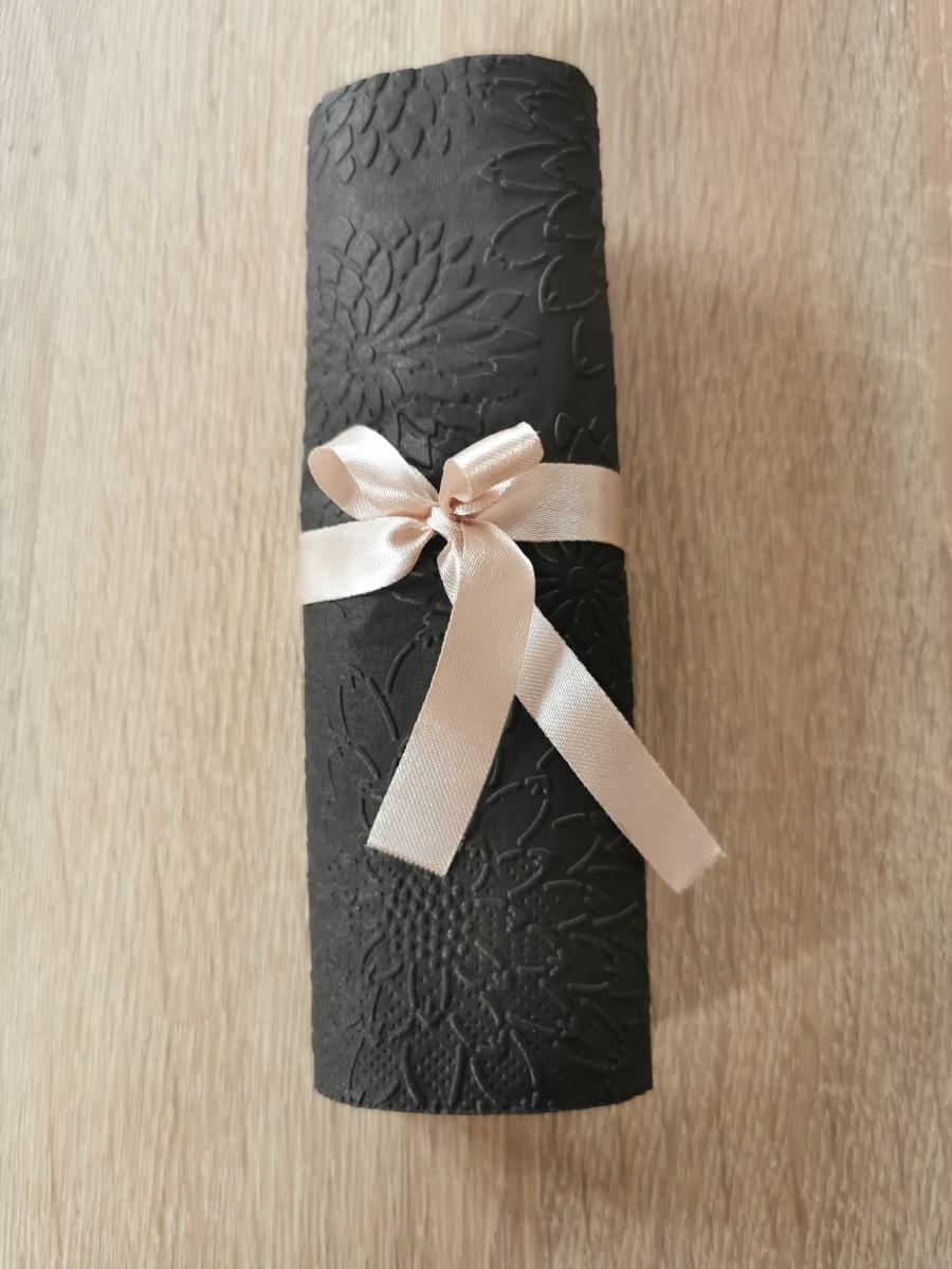 Reliéfne servítky čierne - Black 33x33cm - evkakvety-eshop.eu