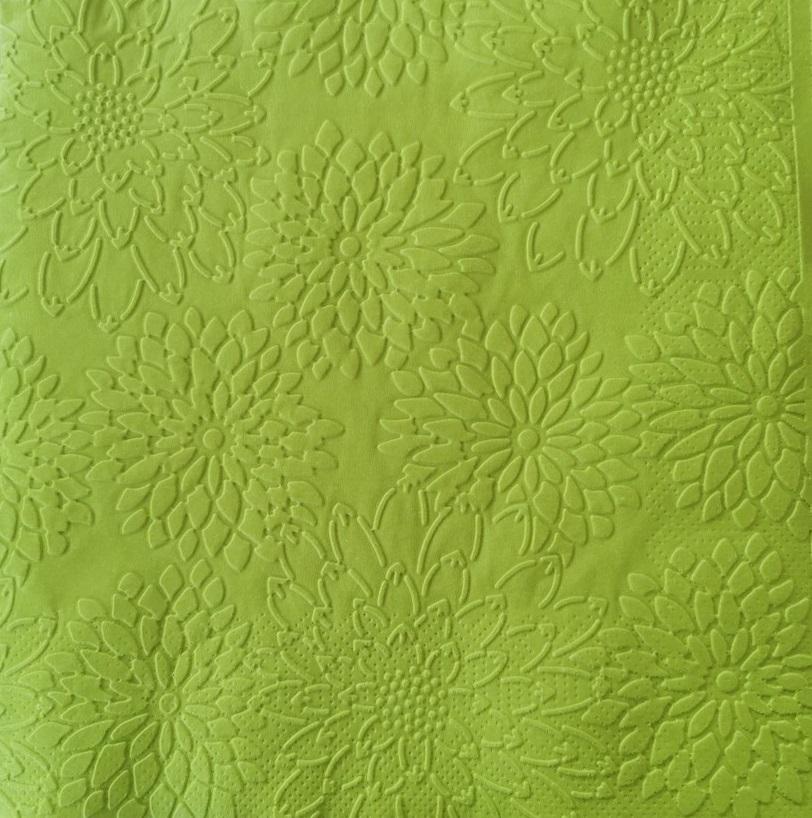 Reliéfne servítky limetkovozelené – Lime Green 33x33cm – evkakvety-eshop.eu