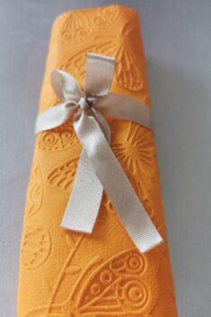 Reliéfne servítky oranžové - Orange 33x33cm - evkakvety-eshop.eu