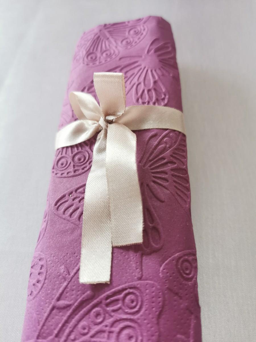 Reliéfne servítky purpurové - Purple 33x33cm - evkakvety-eshop.eu