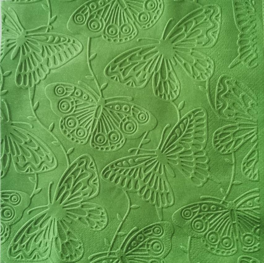 Reliéfne servítky tmavozelené - Dark Green 33x33cm - evkakvety-eshop.eu