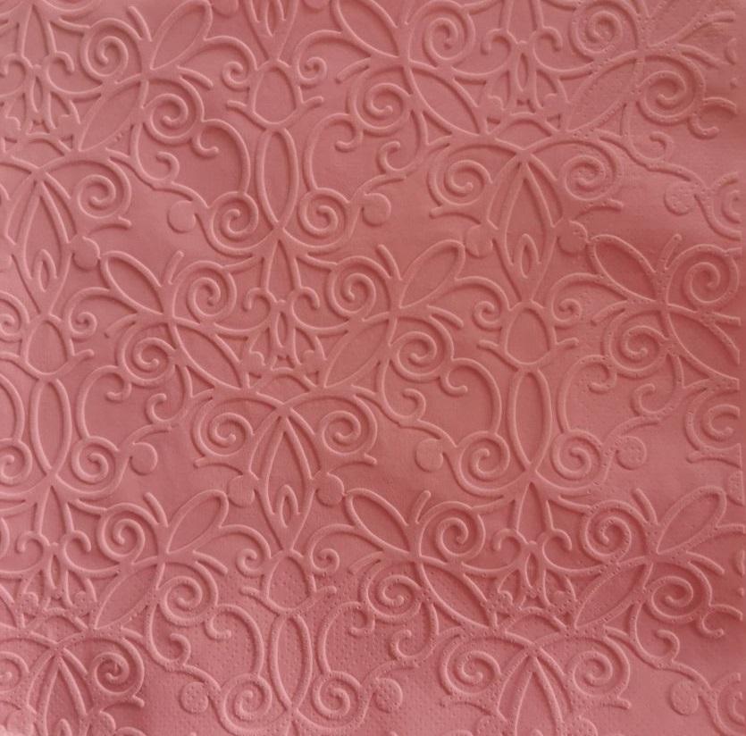 Reliéfne servítky ružové – Candy Pink 33x33cm – evkakvety-eshop.eu