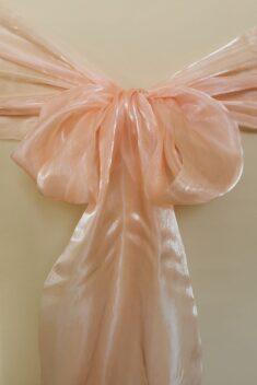 Saténová organza broskyňová - Peach širky 23 cm - evkakvety-eshop.eu