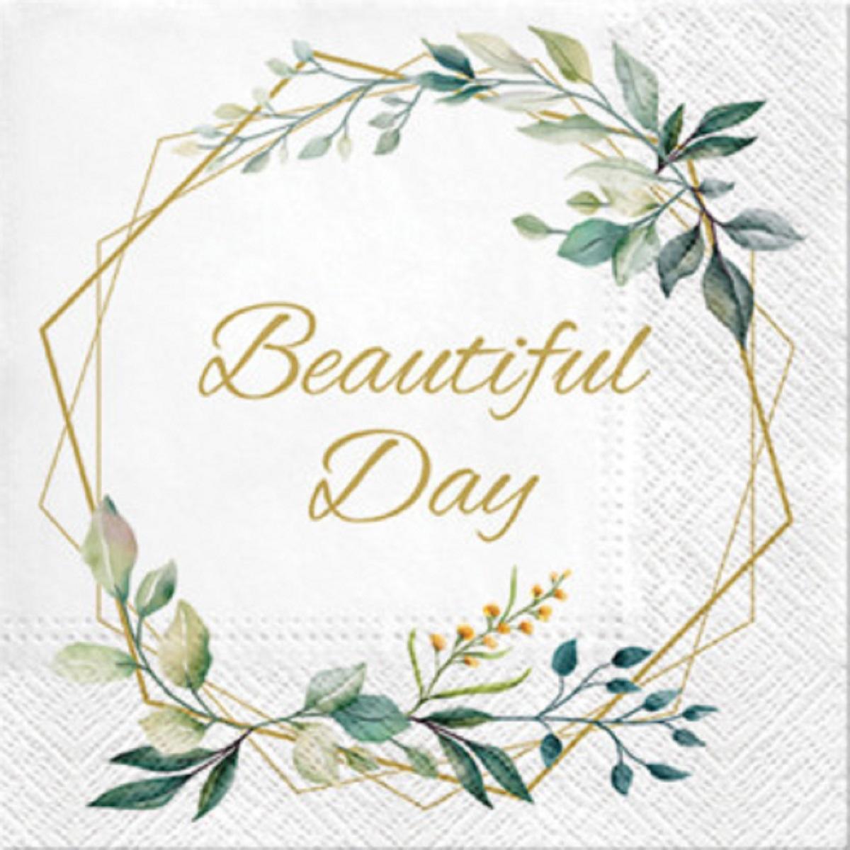 """Servítky """"Beautiful Day"""" 33 x 33 cm, 20ks – evkakvety-eshop.eu"""
